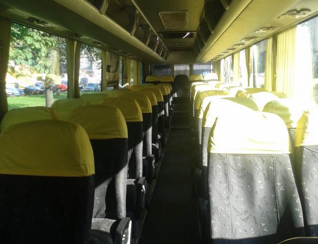 Фото салона автобуса Ютонг