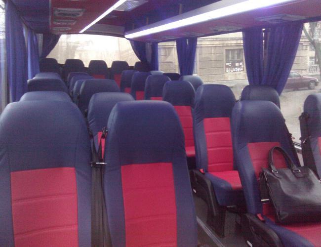 Фотография салона автобуса Неман для аренды с водителем в СПб