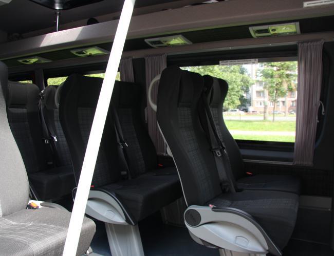 Салон микроавтобуса Мерседес Спринтер 2014 г.в.